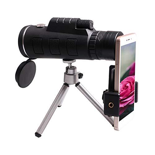 Telescopio monocular Shapl para teléfonos móviles | con brújula y trípode, telescopio refractor astronómico, aplicación al aire libre duradera, conveniente para llevar.