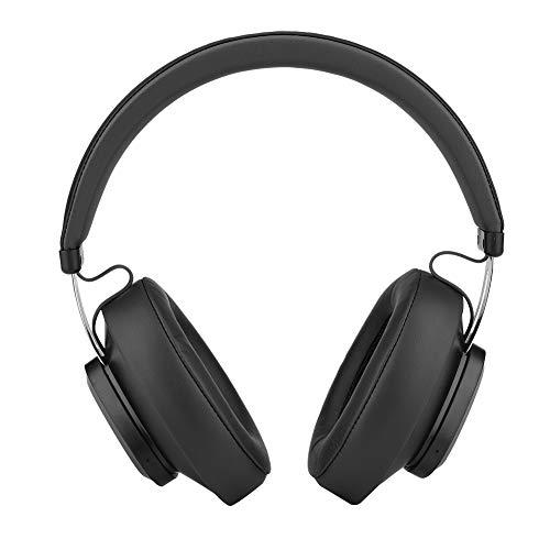 Cuffie Bluetooth Bluedio, [Fino a 30 ore] Cuffie stereo senza fili con auricolari over-ear, Smart AI Cloud Service, microfono a cancellazione di rumore incorporato per chiamata a mani libere(nero)