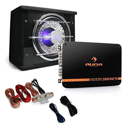 Auna Black Line 100 Equipo de Sonido HiFi para Coche (Amplificador 2...