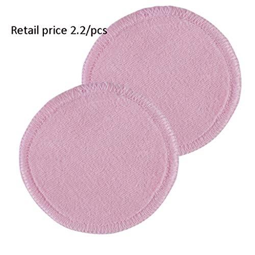 Gesichtsmake-up Entferner Wiederverwendbare waschbare 8-cm-Runde reinigende Wattepad, vier Farben mit Aufbewahrungstasche, Hautpflegeprodukte für Wäscherei-Produkte ( Color : Pink , Größe : 8cm )