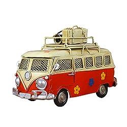 Iron Piggy Bank Vintage Tin Bus