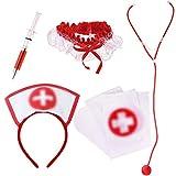 HOWAF Femmes Sexy infirmière Costume Accessoires Set, médecins infirmières Cosplay...