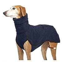 DHDHWL ペット服 犬服 ハイカラーペット服ミディアム大型犬冬暖かいビッグドッグコートファラオハウンドグレートデーンプルオーバーMascotas用品 #c (Color : Navy, Size : S)