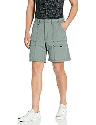 Wrangler Authentics Men's Canvas Utility Hiker Short, Lagoon, 38