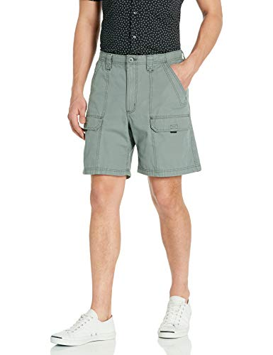 Wrangler Authentics Men's Canvas Utility Hiker Short, Lagoon, 36