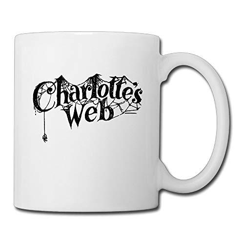 N\A Cool Charlotte 's Web 2006 Film Taza de café de cerámica, Taza de té, Hombres, Mujeres y niños, 13,5 oz, Color Blanco