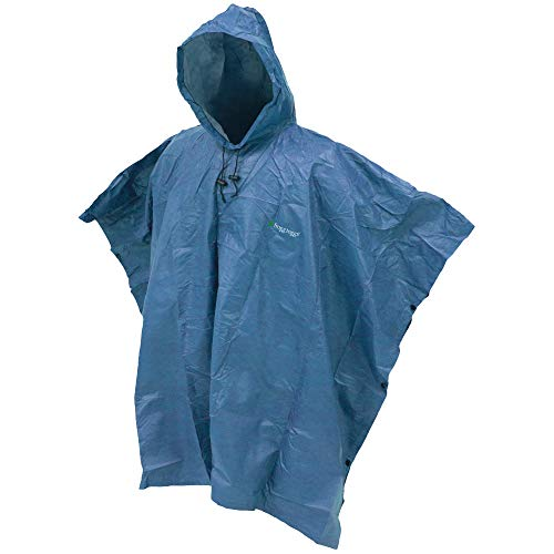 FROGG TOGGS Men's Ultra-Lite2 Waterproof Breathable Poncho, Blue, One Size