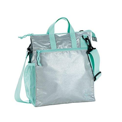 LÄSSIG Baby Kinderbuggytasche Buggy Tasche Kinderwagentasche Aufbewahrungstasche Reißverschluß Kinderwagen inkl. Kinderwagenbefestigung/Casual Buggy Bag, full reflective, grau