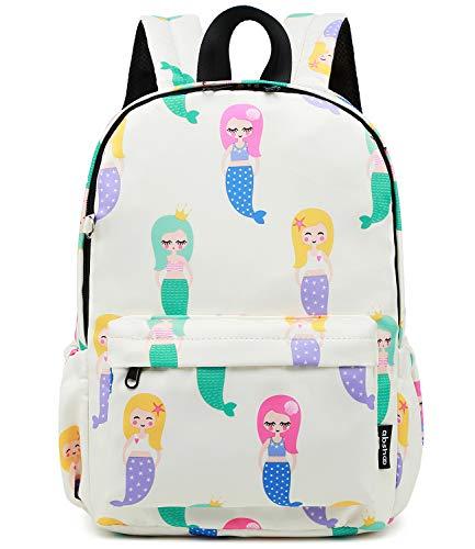 Abshoo Little Kids Mermaid Toddler Backpacks for Girls Preschool Backpack With Chest Strap Mermaid Beige