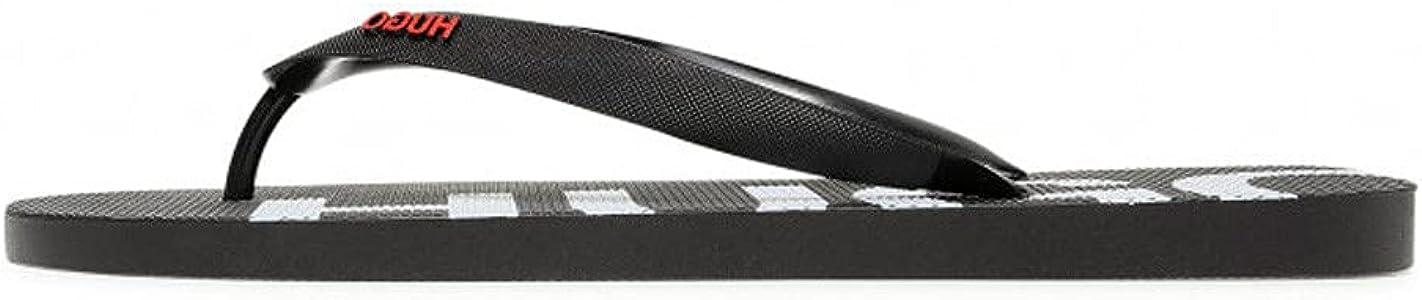 HUGO Men's Modern Flip-Flop, Black 1, 6