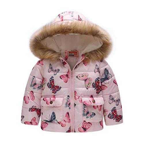 CHIYEEE Mädchen Winterjacke mit Fellkapuze Oberbekleidung Kleidung Verdichte Kinderjacke Wintermantel Mantel Parka