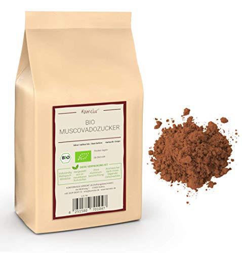 1kg de sucre muscovado brun BIO - sucre de canne complet brut de la meilleure qualité biologique, sans additifs