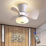 Ventilatore da Soffitto con Lampada – 64W Lampadario Ventilatore Ø55 cm 3 Pale con Telecomando, Super Silenzioso, 3 Temperatura di Colore e 6 Velocità del Vento, Timer e Funzione Inversione