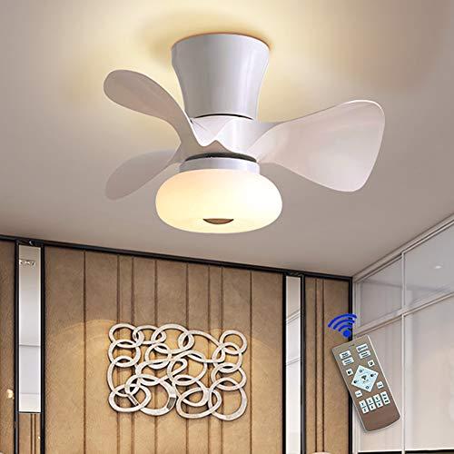 JAHQ Ventilatore a Soffitto con Lampada, Ventilatore da soffitto Moderno creatività con...
