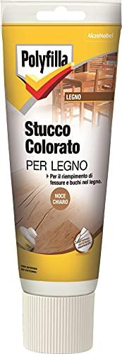 Polyfilla 5096614 Stucco COLORATO per Legno Pasta Noce Chiaro 230 ml