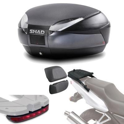 Sh48lurehe112 - Kit fijacion + Maleta baul Trasero + luz de Freno + Respaldo Regalo sh48 Compatible...