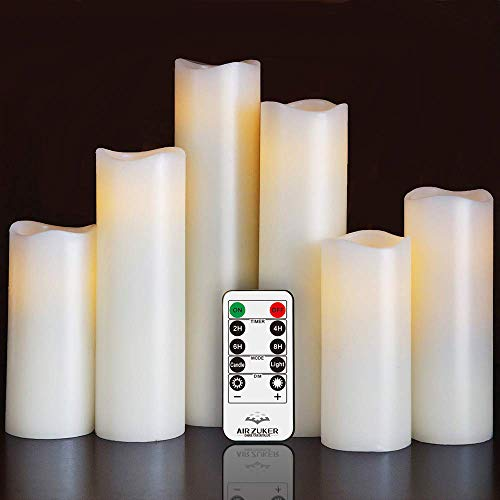 Air Zuker LED Kerzen batteriebetriebene Flammenlose Kerzen (6er LED Flammenlose Kerzen(Nicht enthalten))