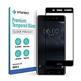 smartect Schutzglas kompatibel mit Nokia 6 (Nokia 6 2017) [FULL ] - Tempered Glass mit 9H Festigkeit - Schutzfolie bedeckt ganzes Bildschirm komplett Full Cover
