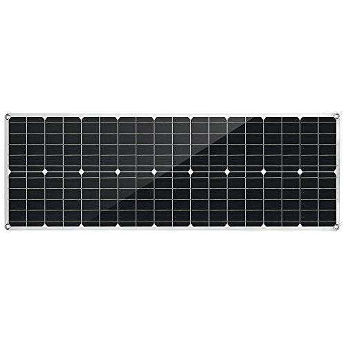 Fengbingl Solar Ladegerät 80W PET Flexible Dual USB Solar Panel DC-Ausgang Ladegerät Dach-Boots-Auto (Farbe : Schwarz, Größe : 80w)
