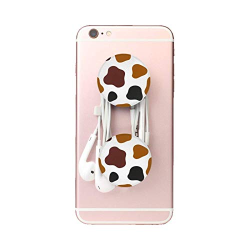 Soporte extensible para dedos de teléfono, compatible con casi todos los teléfonos, diseño colorido de piel de vacuno (1 unidad)