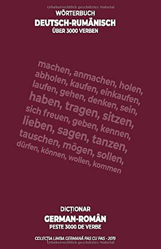 Wörterbuch deutsch-rumänisch, über 3000 Verben