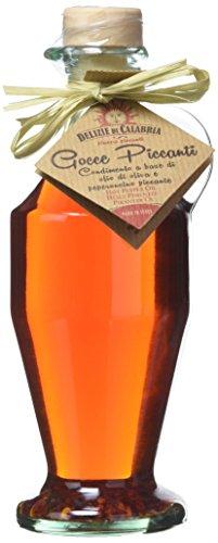 Delizie di Calabria Gocce Piccanti Condimento Piccante a Base di Olio di Oliva e Peperoncino - Pacco da 6 x 250 g