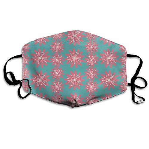 Bequeme Winddichte Maske, keimende Pflanzen Wildblumenzweige Sprossen Knospen Lebhafter rustikaler Patio-Druck