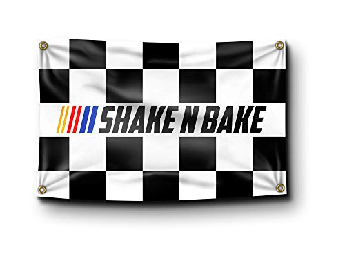 Banger - Ricky Bobby Talladega Nights Shake N Bake Flag Banner College Dorm 3x5 Feet