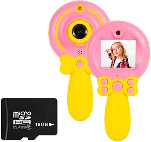 Kindercamera Fototoestel Lollipop Roze Inclusief 16GB Micro SD Kaart (Blauw)
