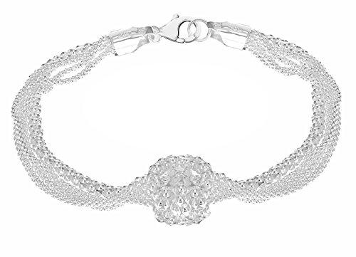 Tuscany Silver Damen - Armband 9 k (375) Rundschliff Diamant 8.28.1892