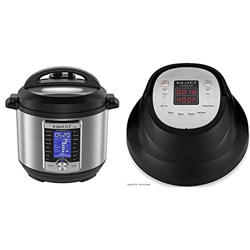 Instant Pot Ultra 10-in-1 Electric Pressure Cooker, Sterilizer, Slow Cooker, Rice Cooker, 6 Quart, 16 One-Touch Programs & Air Fryer Lid 6 in 1, No Pressure Cooking Functionality, 6 Qt, 1500 W