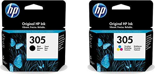 Multipack - Cartuchos de tinta para HP Deskjet 2700 2710 2720 (2 unidades, tinta negra)