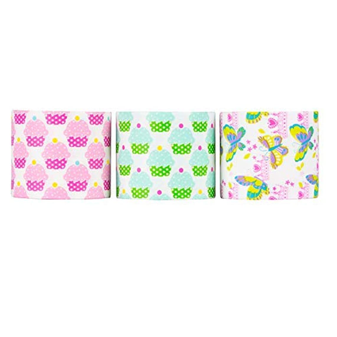 Design Duct Tape 48mm x 16 Feet - Kids Fun Extra Strong Printed Arts & Crafts Multi Pack - by Playlearn (Fresh Cupcakes)