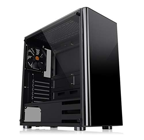 Thermaltake V200 Tempered Glass - Caja de Gaming para PC, Color Negro