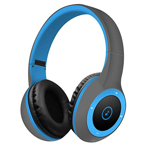 Best Shopper - T8 Stereo Bluetooth Over- Ear Headphones Wireless Folding Gaming Headset with Microphone - Blue