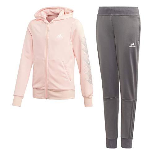 adidas Mädchen G Hood PES TS Trainingsanzug, Weiß (CORNEB/Blanco), 122 (6/7 años)