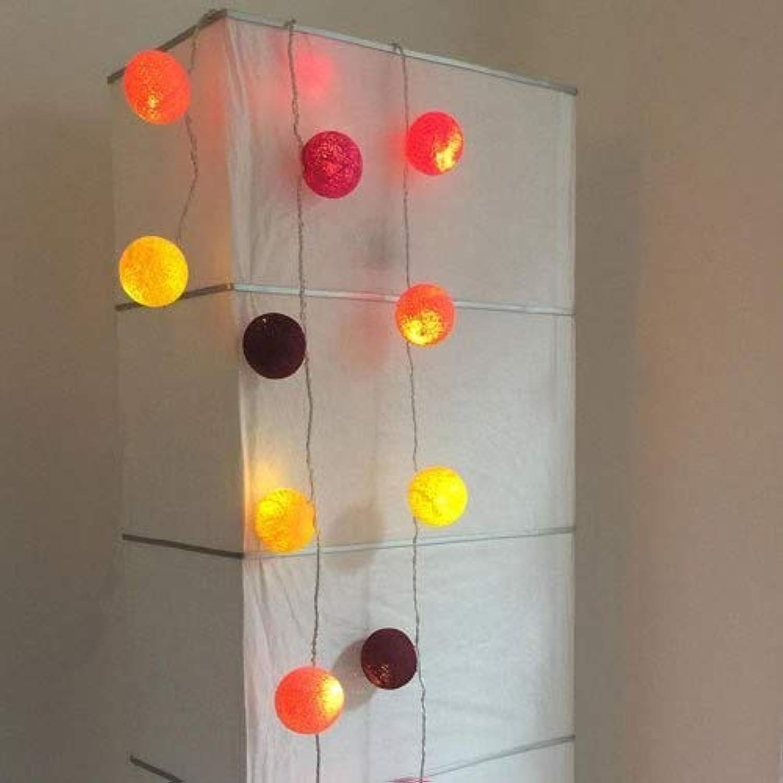 Innenrume Drauen Lichterketten Led Streifen Weihnachts Innenbe Auenbe Lauflichter Lichtschluche Garten-Fackeln Spezial Stimmungsbeleuchtung Lichterketten mit Kugeln, 20 LEDs, Farbe  Metro Aloha