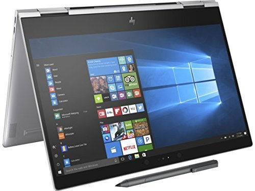 "HP Spectre x360-13t Quad Core(8th Gen Intel i7-8550U, 16GB RAM, 512GB PCIe NVMe SSD, IPS micro-edge Touchscreen Corning Gorilla, Win 10 Ink)Bang&Olufsen 13.3"" 2-in-1 Convertible Stylus - Silver"