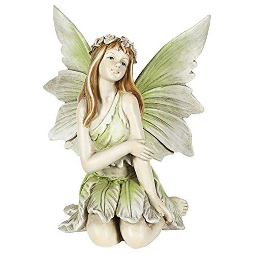 Ornamentos, figura de jardín para exteriores, jardín de hadas, figuras de resina artesanal, paisajismo, patio, decoración, estatua de hada (D)