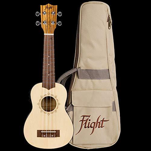 Flight: DUS320CEQ Soprano Electro-Acoustic Ukulele (With Bag). Ukelele