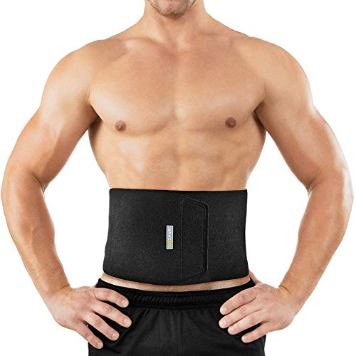 Bracoo - Bauchweggürtel für Fitnesstraining in Schwarz, Größe Schmal