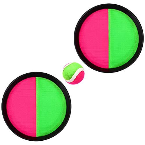 BESPORTBLE 2 Juegos de Lanzar Y Atrapar Bolas de Paletas de Juego de Pelota Atrapar Juguetes con 4 Raquetas 2 Bolas Juguetes de Pelota Al Aire Libre para Niños Adultos