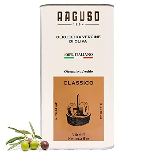 FRANTOIO RAGUSO OLIO EXTRAVERGINE DI OLIVA 3 LT - CLASSICO - 100% ITALIANO - OTTENUTO A FREDDO - FRUTTATO MEDIO - PREMIATO GAMBERO ROSSO 2020