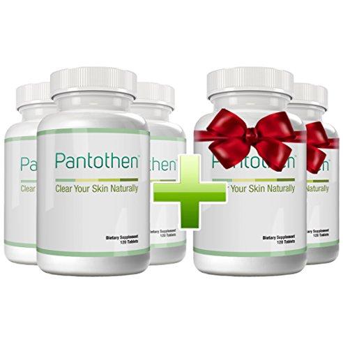 Pantothen - Gegen Akne, Pickel, Mitesser und unreine Haut| Kaufe 3 Flaschen und erhalte 2 gratis dazu