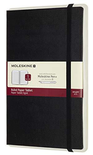 Moleskine Notebook Paper Tablet, Taccuino Digitale con Pagine a Righe e Copertina Rigida, Notebook Adatto all Uso con Pen Moleskine+, Colore Nero, Large (13 x 21 cm)