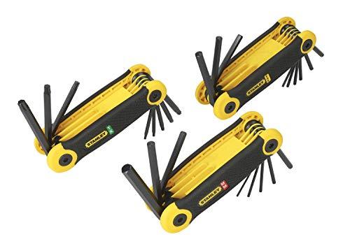 Stanley Sechskant-Stiftschlüssel-Set (metrisch/Zollmasse/Torx, 25-teilig, ergonomischer Handgriff) 2-69-268