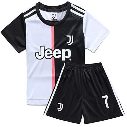 GHMEI Kinder Fußball Trikot Sport Ronaldo T-Shirt Shorts Socken Sets, Fußballuniform, Jungen Mädchen Fußball (Heimauswärts) Modric Mané Anzug Trainingsanzüge, Sommer Kurzarm-D-22