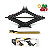Amvia Scissor Jack for Car - 1.5 Ton (3,300 lbs) - Car Jack Kit - Tire Jack - Compatible with SUV and Auto