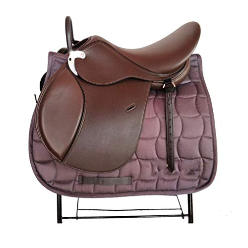 KDKDA New Western Pleasure Trail Pida el caballo de silla libre Brida REINS pretal arnés nueva doble Circunferencia integrada de una silla silla silla principiante Inglés de una silla conjunto complet