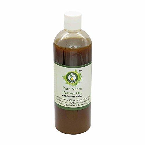 El aceite de neem | Azadirachta Indica | Para plantas | Para el crecimiento del pelo | Para piel | Prensado en frío | 100% natural puro | Neem Oil |100ml | 3.38oz By R V Essential